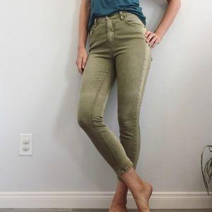 FP High Waist Green Jeans